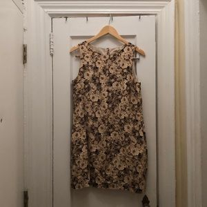 Flowery neutral dress